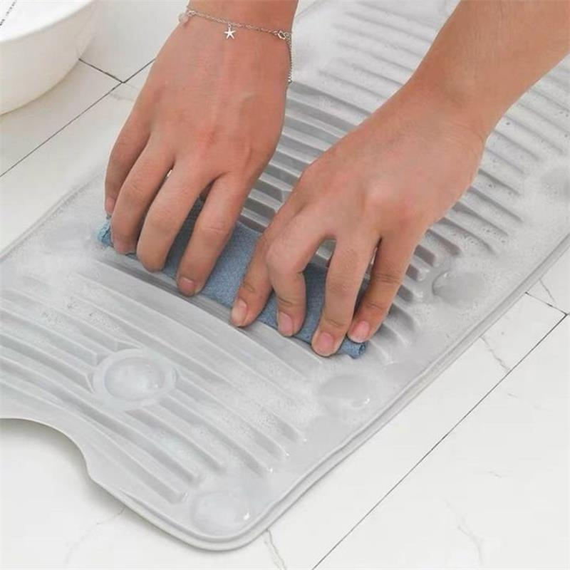 Creative Washboard Anti Slip Washing Board Portable Collapsible Cleaning Plate Silicone Laundry Mat Laundry Household Cleaning