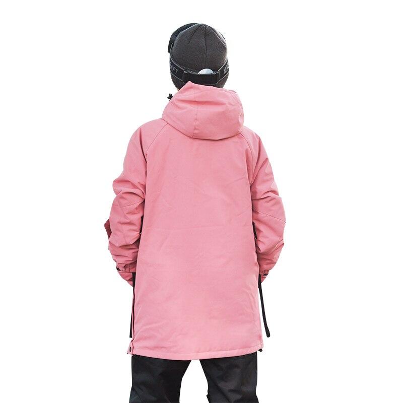 Пуловер Лыжная куртка мужская зимняя теплая и ветрозащитная водонепроницаемая одежда для сноуборда лыжное снаряжение черный комбинезон зимние куртки-30