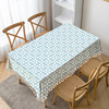 Blue flower Printing Table Cloth Tassel Waterproof Tablecloth Thick Rectangular Manteles Mesa Nappe Wedding Decorate Table Cover