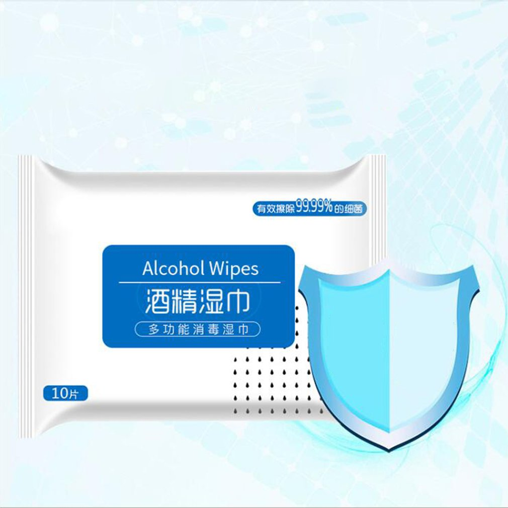1 Alcohol Wet Wipe Disposable Disinfection Prep Swap Pad Antiseptic Skin Cleaning Care Jewelry Mobile Phone Clean Wipe