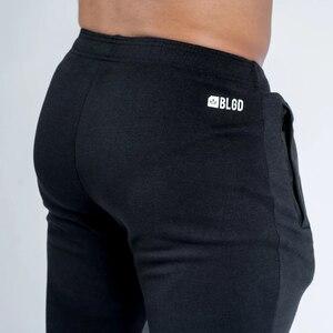 Image 5 - רצים מכנסי טרנינג Mens Slim מכנסי קזואל מוצק צבע חדרי כושר אימון כותנה ספורט סתיו זכר כושר קרוספיט מסלול מכנסיים