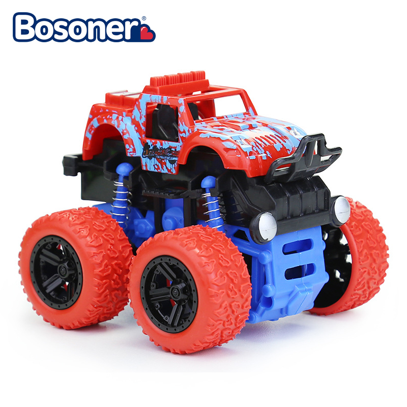 Colorful Kids Cars Toys Truck Inertia SUV Friction Power Vehicles Baby Boys Super Cars Blaze Truck Children Gift Toys