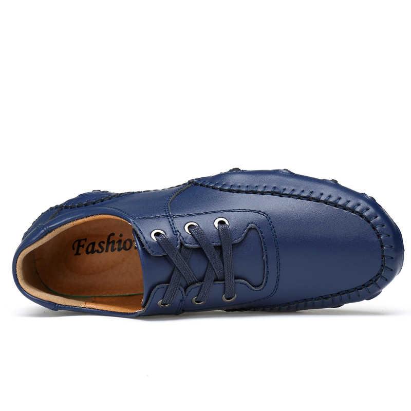 Trend erkek mokasen ayakkabıları ayakkabı 2020 yeni gündelik erkek ayakkabısı erkek moda mokasen tekne ayakkabı erkek Slip-on eğlence erkek ayakkabıları 47
