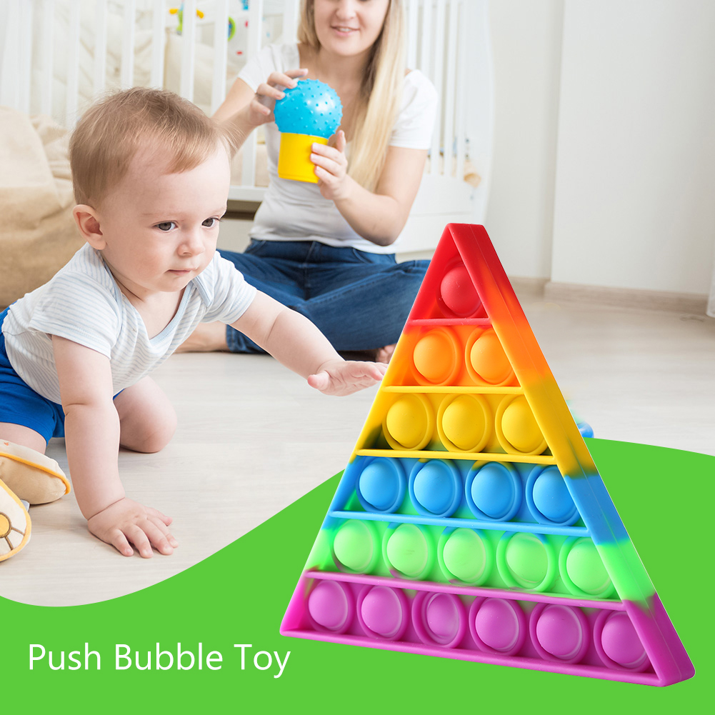 Decompression-Toys Puzzle Anti-Stress Push Bubbles Funny Triangle Safe Desktop Early-Education img3