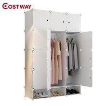 พลาสติกแบบพกพาพับตู้เสื้อผ้าสำหรับเสื้อผ้าประกอบตู้เสื้อผ้าตู้แร็คห้องนอนเฟอร์นิเจอร์ armario ropero