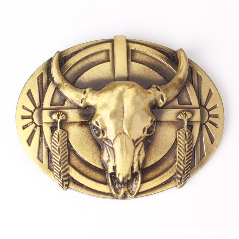 Bull Skull Belt Buckle Belt DIY Components Western Denim Heavy Metal Rock Style Belt Buckle