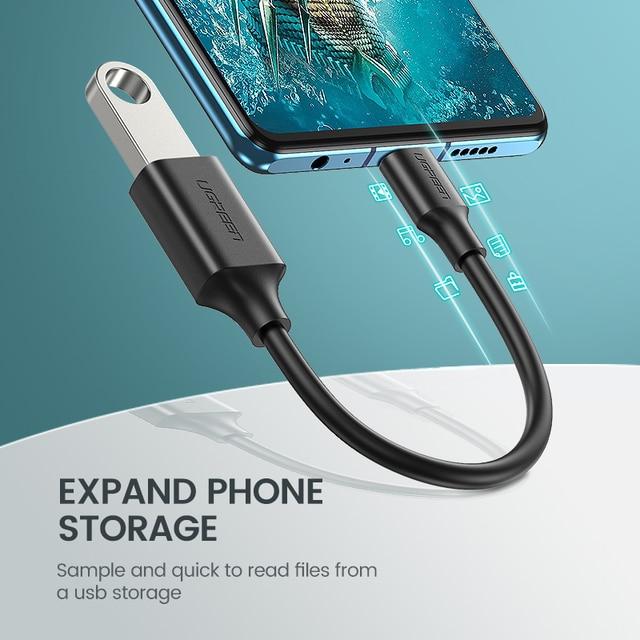 Adaptateur Ugreen USB C vers USB Type C câble OTG USB C mâle vers USB 3.0 A adaptateur de câble femelle pour MacBook Pro Samsung S9 USB-C OTG