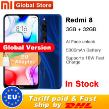 Global Version Xiaomi Redmi 8 3GB 32GB /4GB 64GB Snapdragon 439 Octa Core 12MP Dual Camera