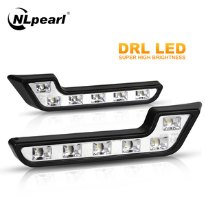 Nlpearl 2x 12V Super Bright DRL LED Daytime Running Lights for Cars Auto Waterproof LED Driving Lights Fog Lamps Car Styling