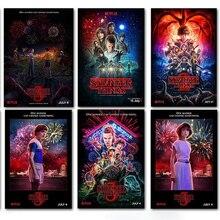 PipiFren странные вещи плакаты настенные наклейки украшение дома ТВ шоу принты домашнего искусства бренд Шелковый плакат naklejki