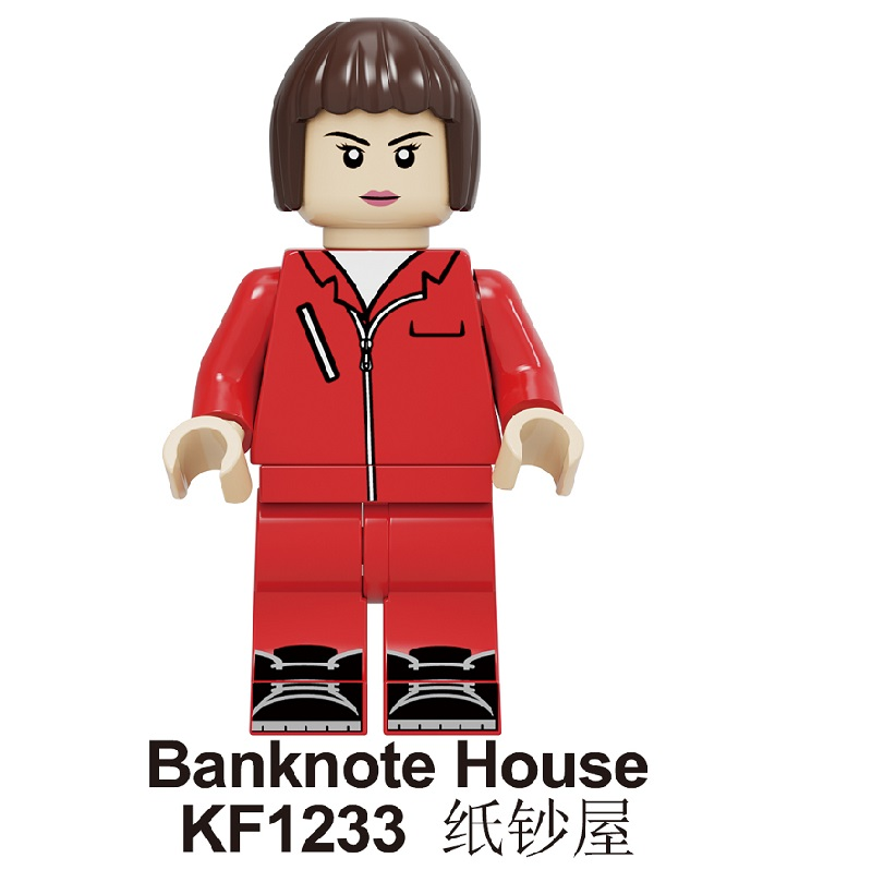 Single Sale Building Blocks Famous Suspense Movie Banknote House Money Heist Character Retired Killer Figures Toys KF1233 image