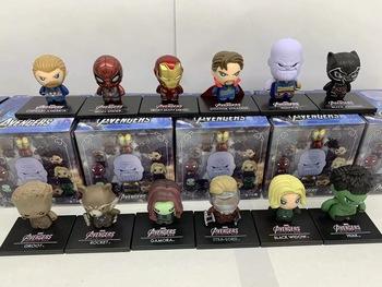 Marvel Super Hero Avengers strażnicy galaktyki gwiazda Lord Spiderman Thor kapitan ameryka Iron Man Hulk pcv figurka zabawki tanie i dobre opinie Unisex Guardians of The Galaxy Model PIERWSZA EDYCJA Wyroby gotowe Zachodnia animacja Produkty na stanie CN (pochodzenie)