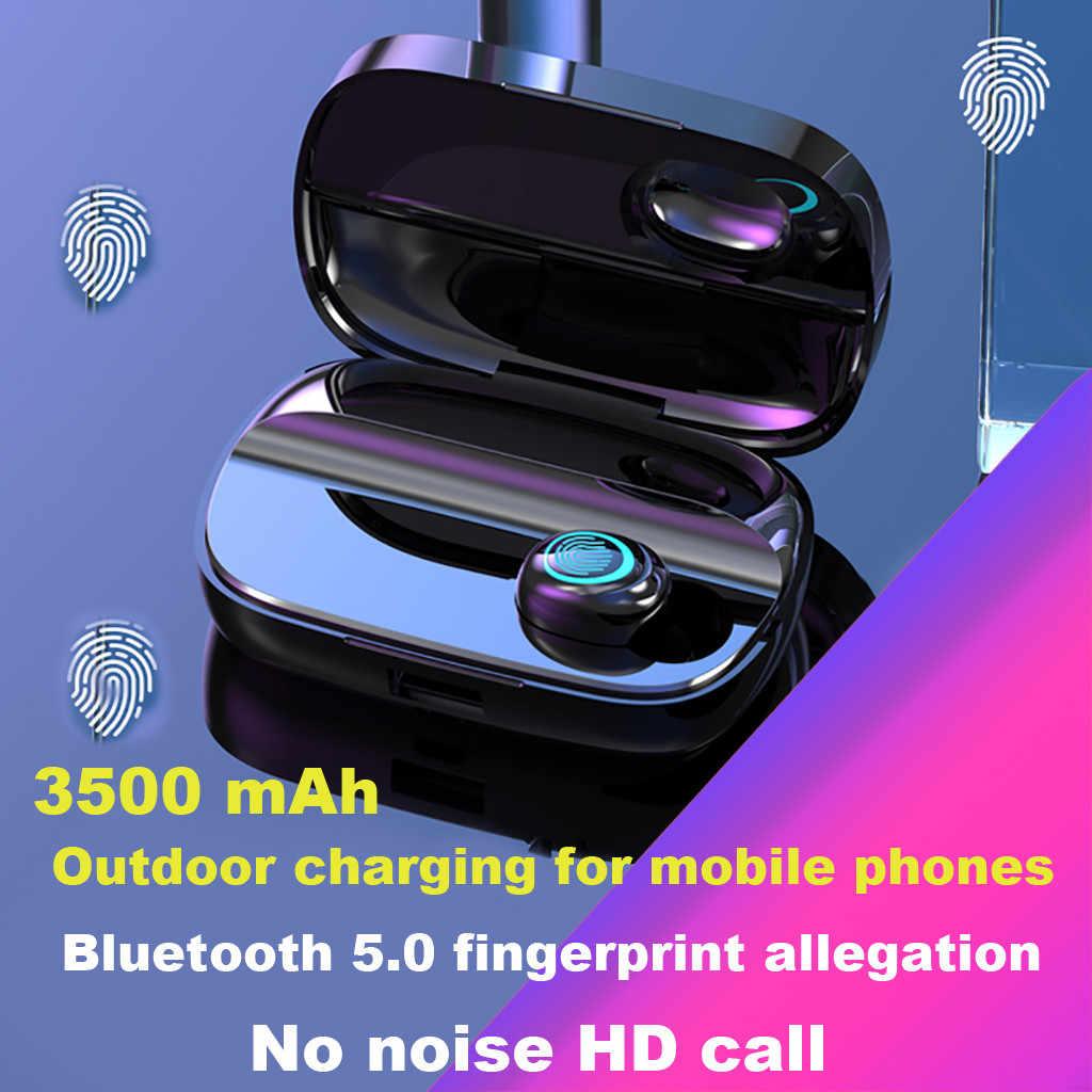 S11 auriculares Bluetooth 5,0 estéreo Mini auriculares inalámbricos auriculares deportivos impermeables Auriculares auriculares micrófono + funda de carga Lakukom