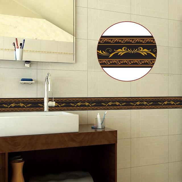 Border PVC Self-Adhesive Waterproof Wall Sticker Kitchen Strip 8