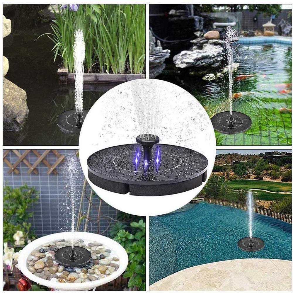 2w 12v Floating Mini Solar Fountain Pump Solar Powered Water Fountain Solar Panel Waterfall Pool Pond Garden Outdoor Decoration Fountains Bird Baths Aliexpress