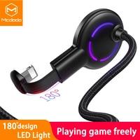 Mcdodo-Cable USB 2A para iPhone 12, 11 Pro max, X, XS, XR, 8, carga rápida, IOS 14, Cable de datos LED para teléfono móvil