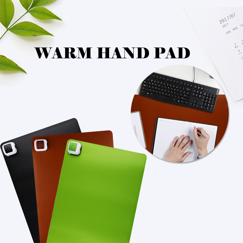 220V US Plug Waterproof Office Desk Electric Heating Pad Black Green Brown Heated Table Mouse Desk Keyboard Mat Warmer