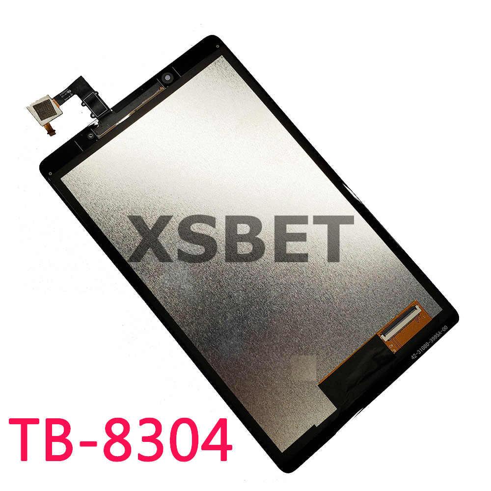 لينوفو تبويب E8 8 TB-8304F1 TB-8304F TB-8304 8304 شاشة الكريستال السائل و محول الأرقام بشاشة تعمل بلمس الزجاج استبدال أجزاء
