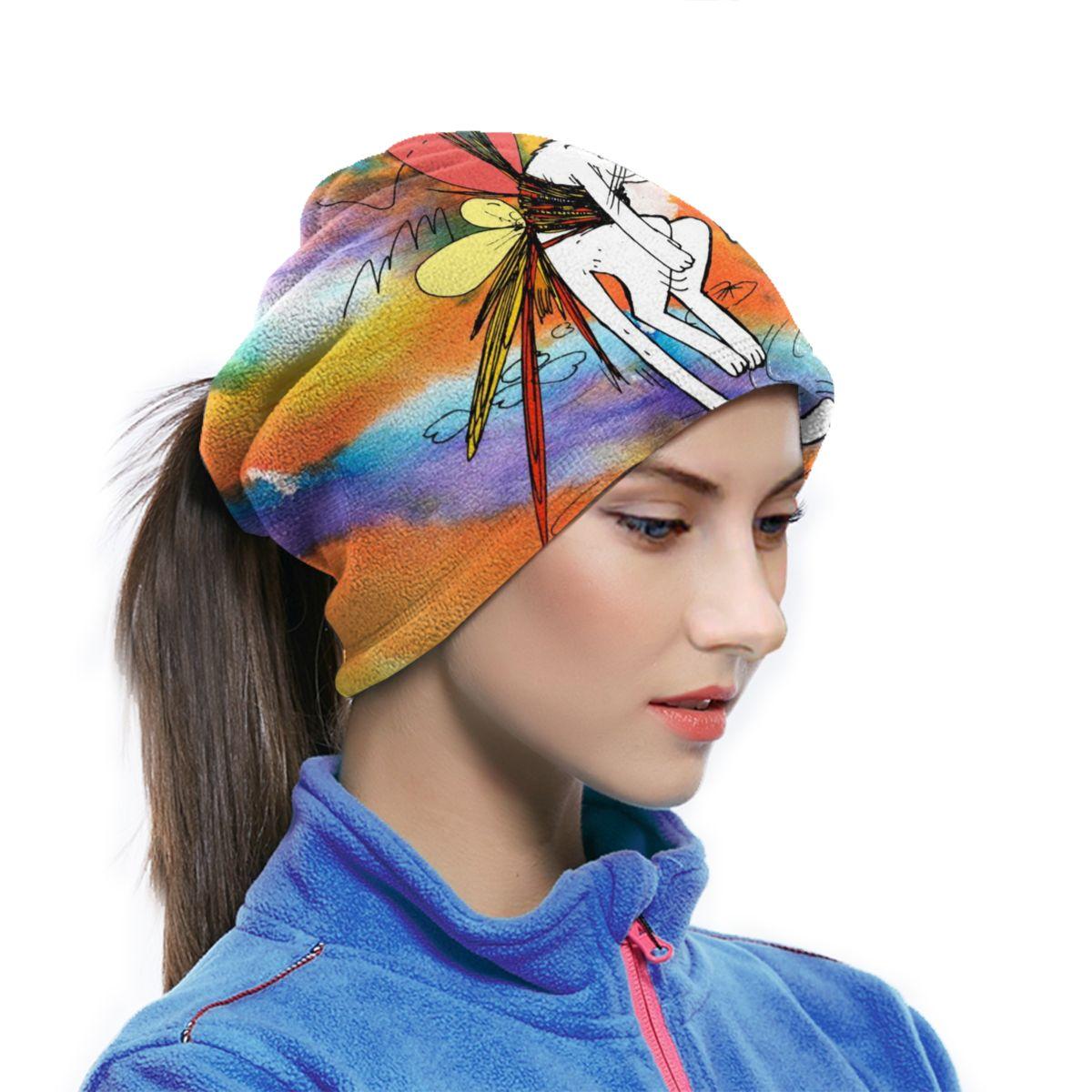 Headwear Headband Graffiti Birds Pattern Head Scarf Wrap Sweatband Sport Headscarves For Men Women