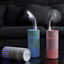 3 in 1 Air Humidifier 320ML USB Mini Ultrasonic Essential Aroma Diffuser Car Home Portable Colorful Lamp Purifier Mist Maker