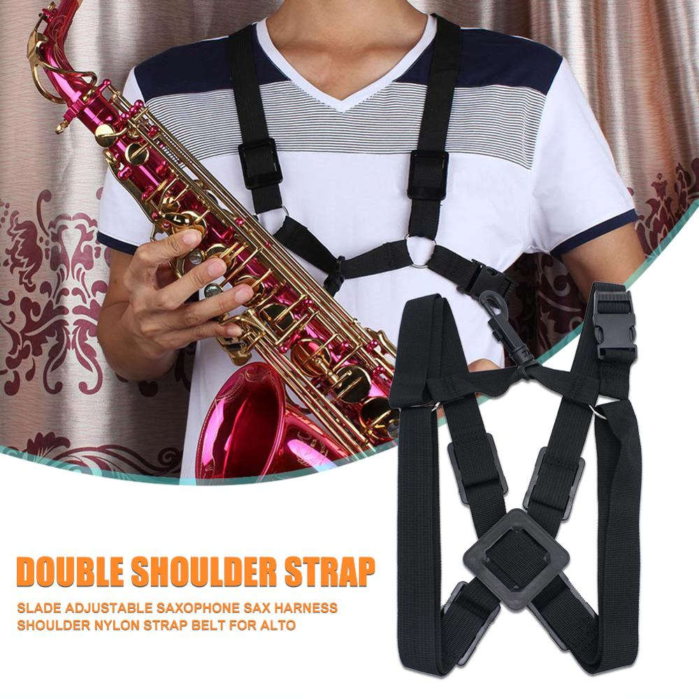 Hot Sale Saxophone Strap Classic Delicate Alto Tenor Saxophone Harness Oxford Cloth Adjustable Sax Shoulder Strap Belts
