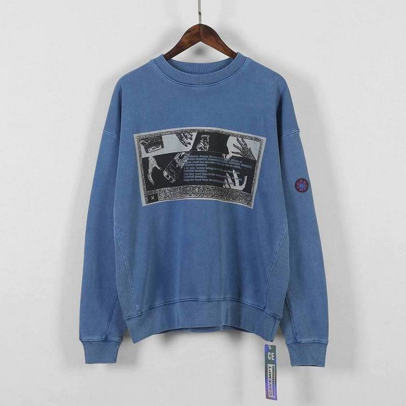 19ss Cavempt Hoodies Men Women 1:1 Best Quality Split Joint Blue Fashion Sweatshirts Natural Casual Cavempt Pullover