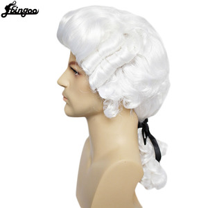 Image 3 - Ebingoo White Lawyer Judge Wig Baroque Curly Male Colonial Deluxe Historical Costume Synthetic Cosplay Wig for Halloween Cosplay