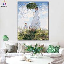 Diy картинки для раскраски по номерам с цветами monet parasol