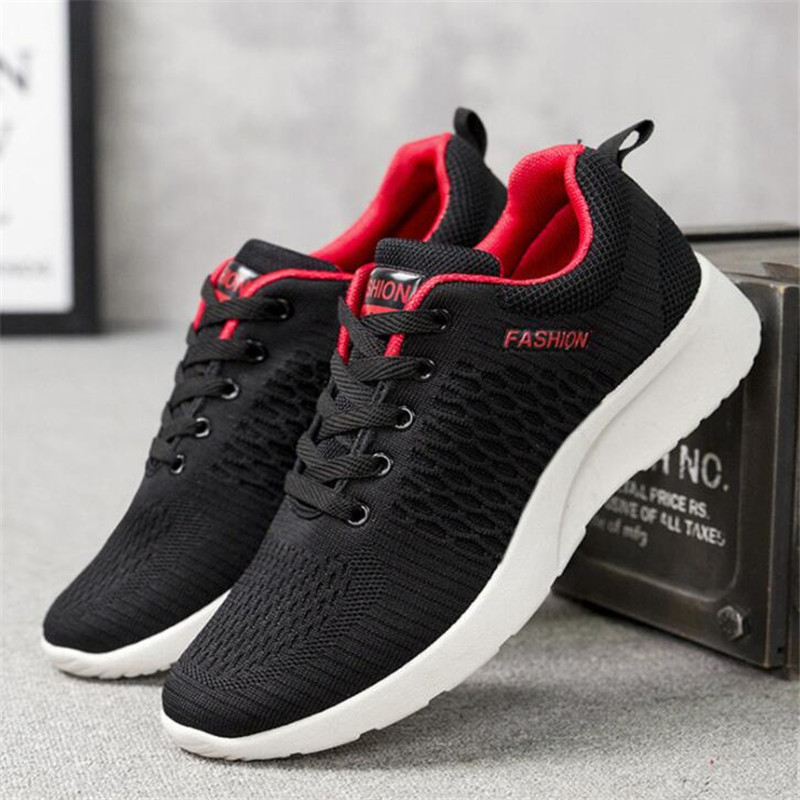 Oeak Mens Shoes Walking-Sneakers Mesh Lightweight Feminino Comfortable New Tenis Lac-Up