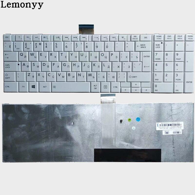Russian For TOSHIBA C850 C855D C855 C870 C870D C875 L875 L950 L950D L955 L955D RU Keyboard White