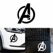 Cool Avengers logo pattern Auto Stickers On The Car Computer Vinyl Oil Tank Cover Car-Styling Decoration Accessories(China)