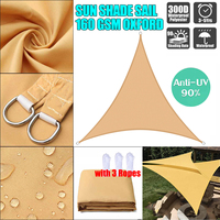 Sand Yellow triangle Sunshade Outdoor Sun Shelter Waterproof awnings Protection Outdoor Canopy Garden Patio Pool Shade Sail