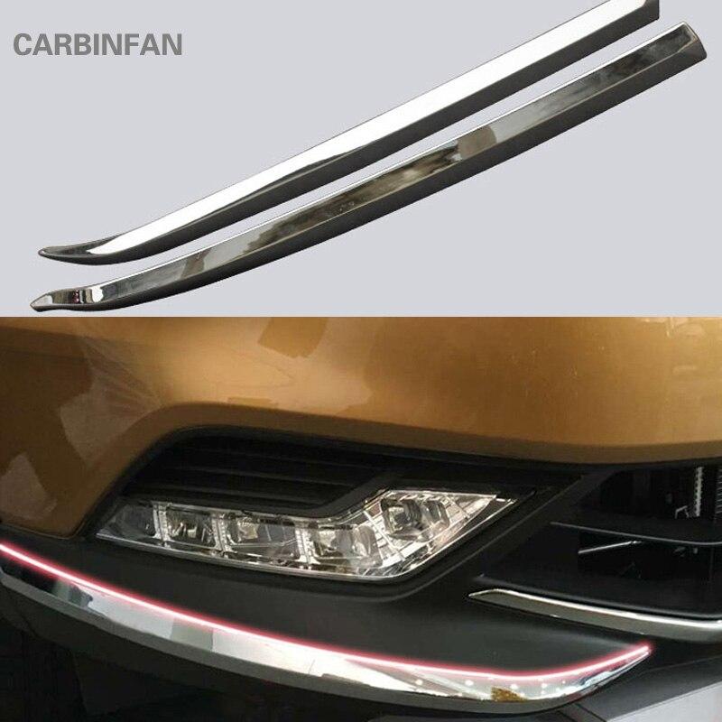 front bumper cover Trim corner scratch scuff protector Trim  decorative strip  Fit  for  Nissan Qashqai  2016 2017        P303 for nissan qashqai trim coverfront bumper trim - AliExpress