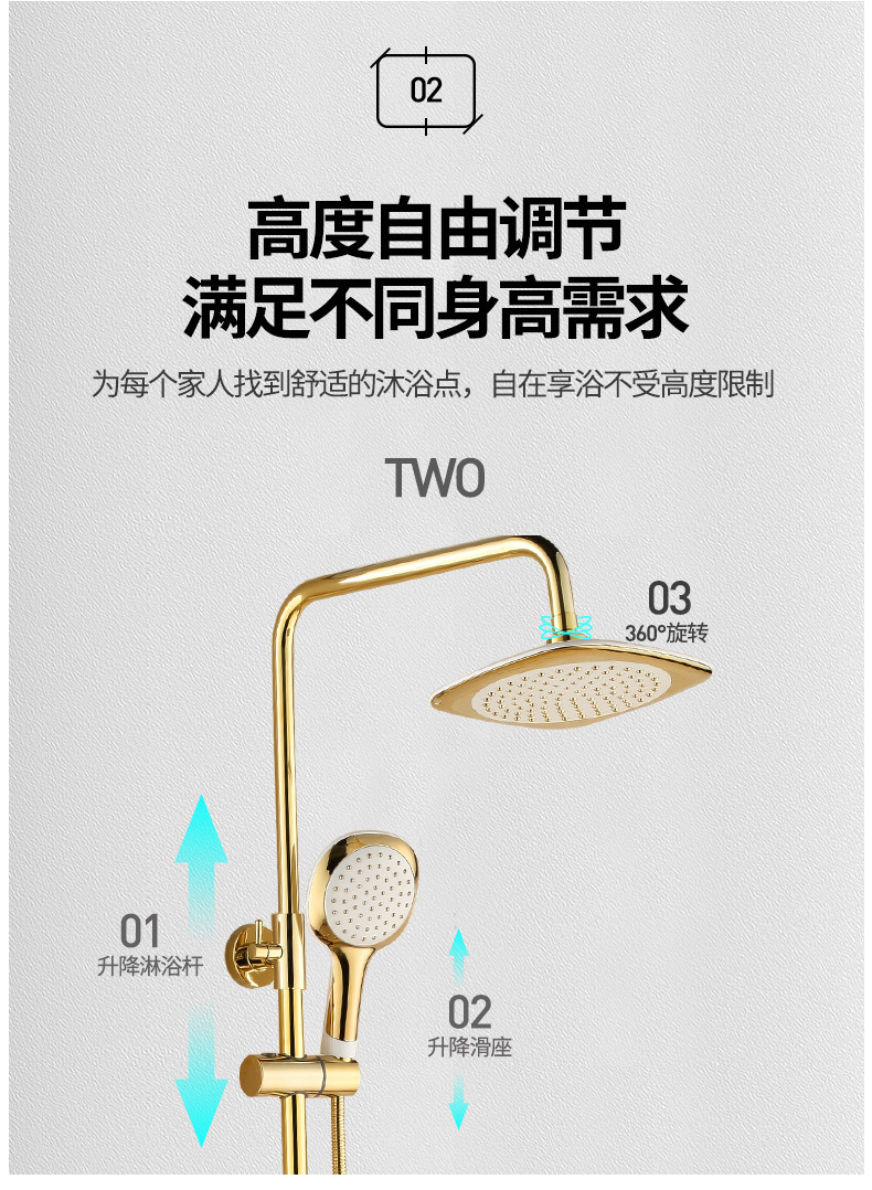 H4902866cc8594b5ea0daf994ce4ccd7f3 Luxury Shower System Head Tube Shower System Rainfall Gold Shower Faucet Set Torneira Chuveiro Bathroom Accessories Sets BK50HS