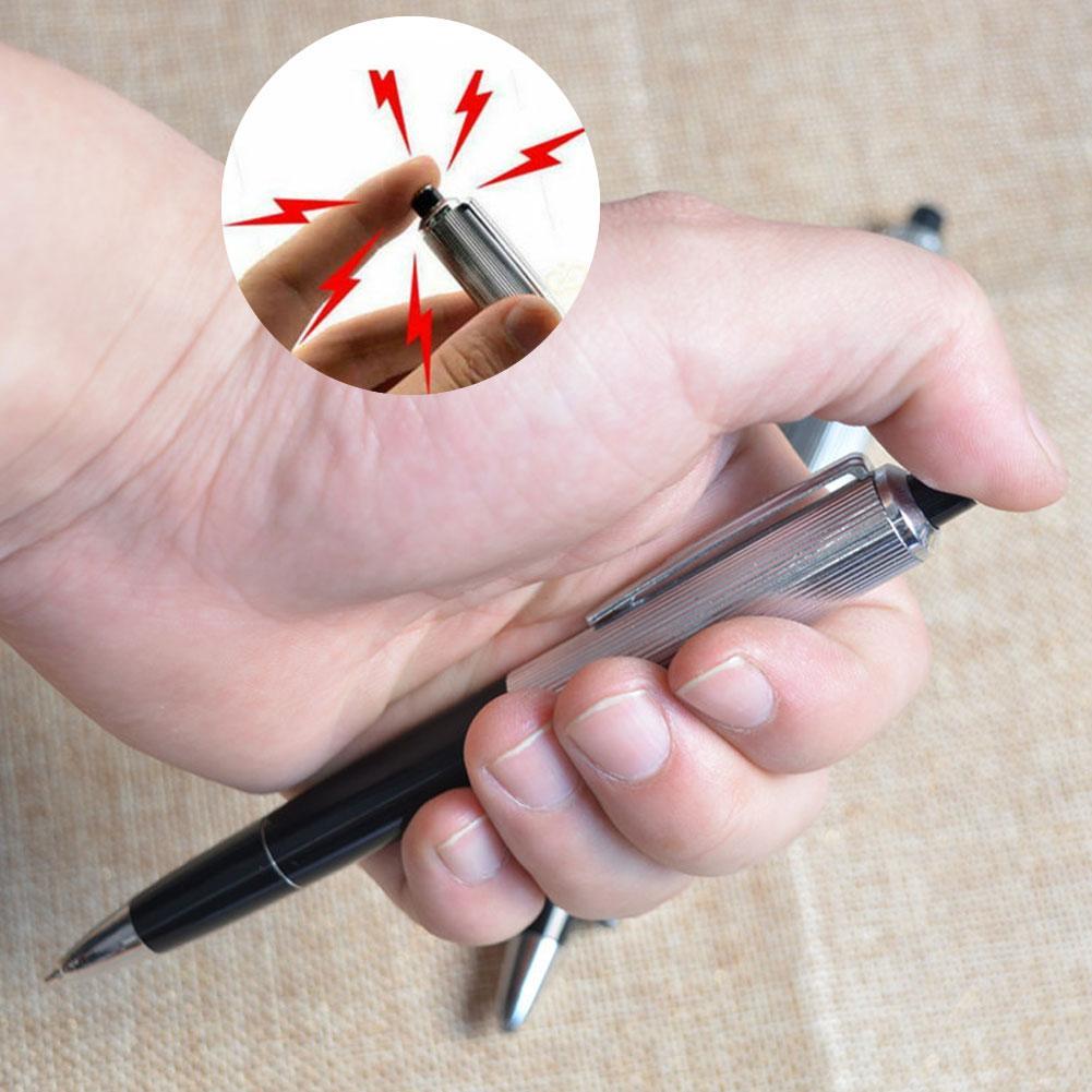 Novelty Electric Shock Pen Toy Utility Safety Electric Shock Pen Funny Joke Prank Trick Anti-stress Toy Novelty Toy Pen
