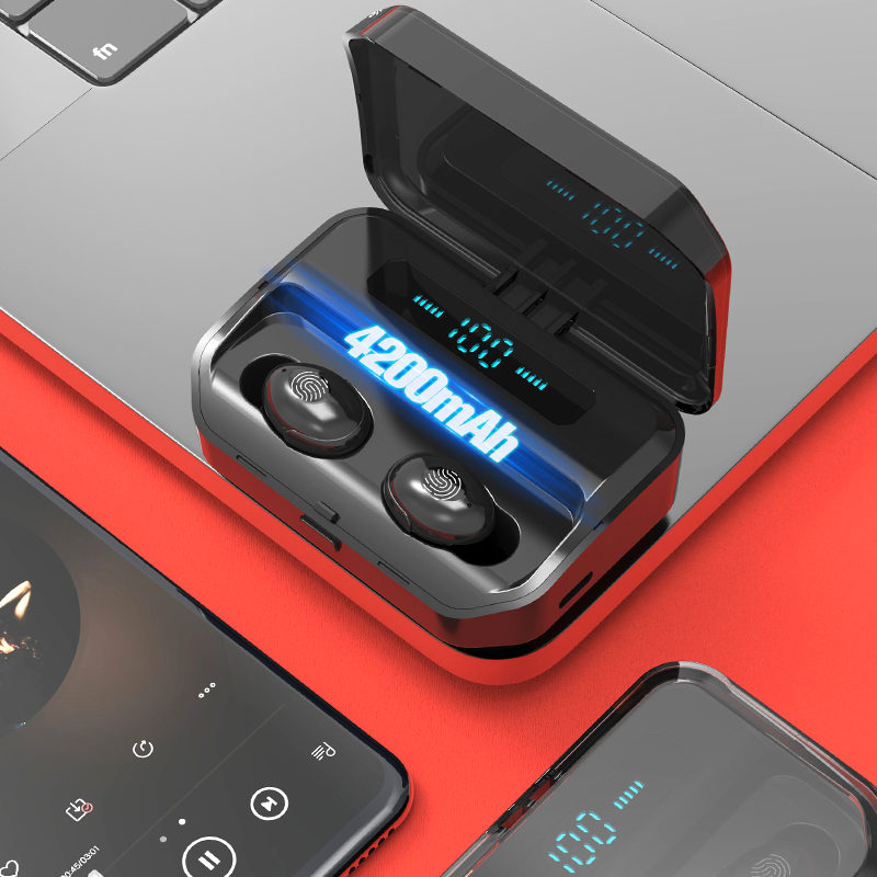 Bluetooth 5 0 Wireless Earbuds with 4200mAh Charging Case IPX7 Waterproof TWS Stereo Headphones in Ear Built in Mic Headset