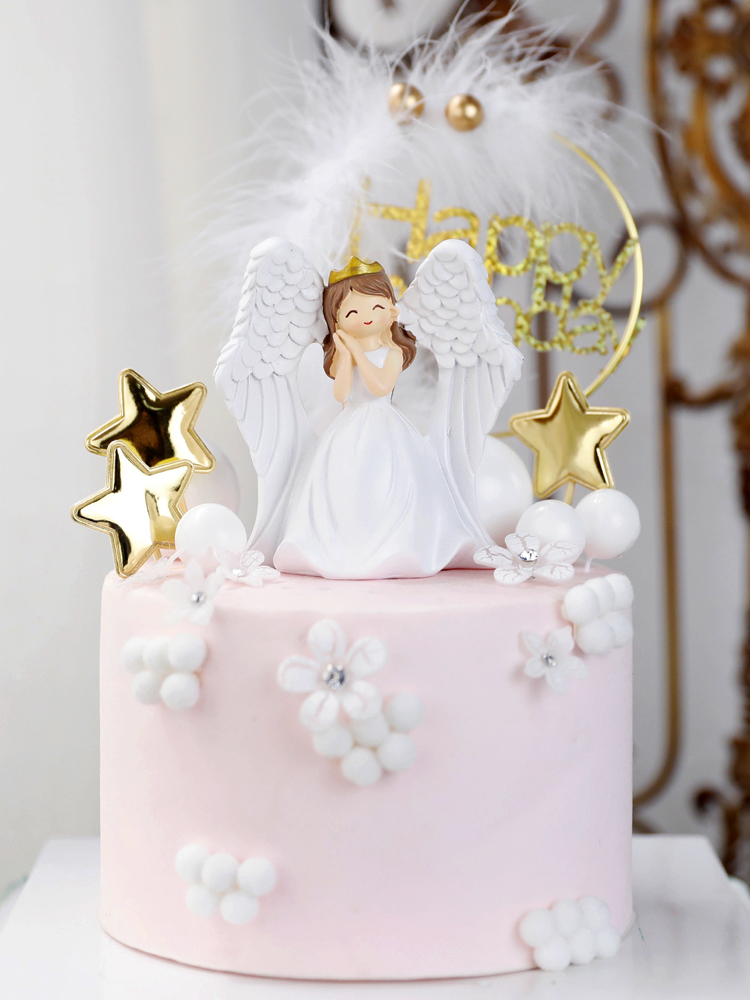 Remarkable Happy Mothers Day Cake Topper Angel In White Happy Birthday Funny Birthday Cards Online Inifodamsfinfo