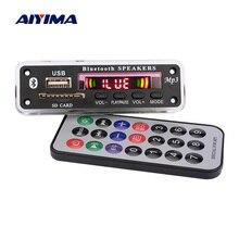 AIYIMA placa decodificadora de MP3 Bluetooth WMA WAV FLAC APE, decodificador AUX, USB, SD, Radio FM, reproductor de música para amplificador de Altavoz Bluetooth
