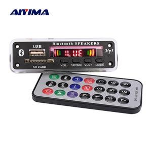 Image 1 - Aiyima 블루투스 mp3 디코더 보드 wma wav flac ape 디코딩 aux usb sd fm 라디오 음악 플레이어 블루투스 스피커 앰프