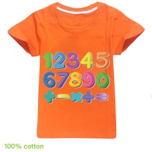 2020 Children Clothes T-shirts Cute digital Print Kids T shirt Tee for Boys Girls Short Sleeve T-Shirt Tee Tops Toddler Infant цена 2017
