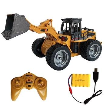1:18 RC tractor pala juguete RC carretilla elevadora camión ingeniería coche juguetes de juguete para niños niño juguetes regalo Bulldozer Tractor pala modelo
