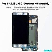 מקורי עבור SAMSUNG GALAXY S6 קצה בתוספת G928 G928F צריבה צל LCD תצוגת מסך מגע Digitizer סופר Amoled החלפה