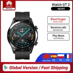 RUB 10000-1200 CODE:ALIPLUS1200,Глобальная Версия смарт-часов HUAWEI GT 2 GT2, умные часы с кислородом крови, 14 дней, трекер сердечного ритма с телефонным звонком...