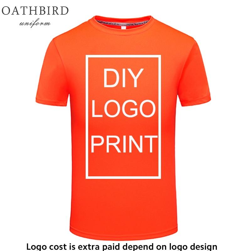 Custom Logo Dry Fit T Shirt DIY Printing Quick Dry Comfortable Running Shirt Gym Sportswear Drop Shipping Supplier