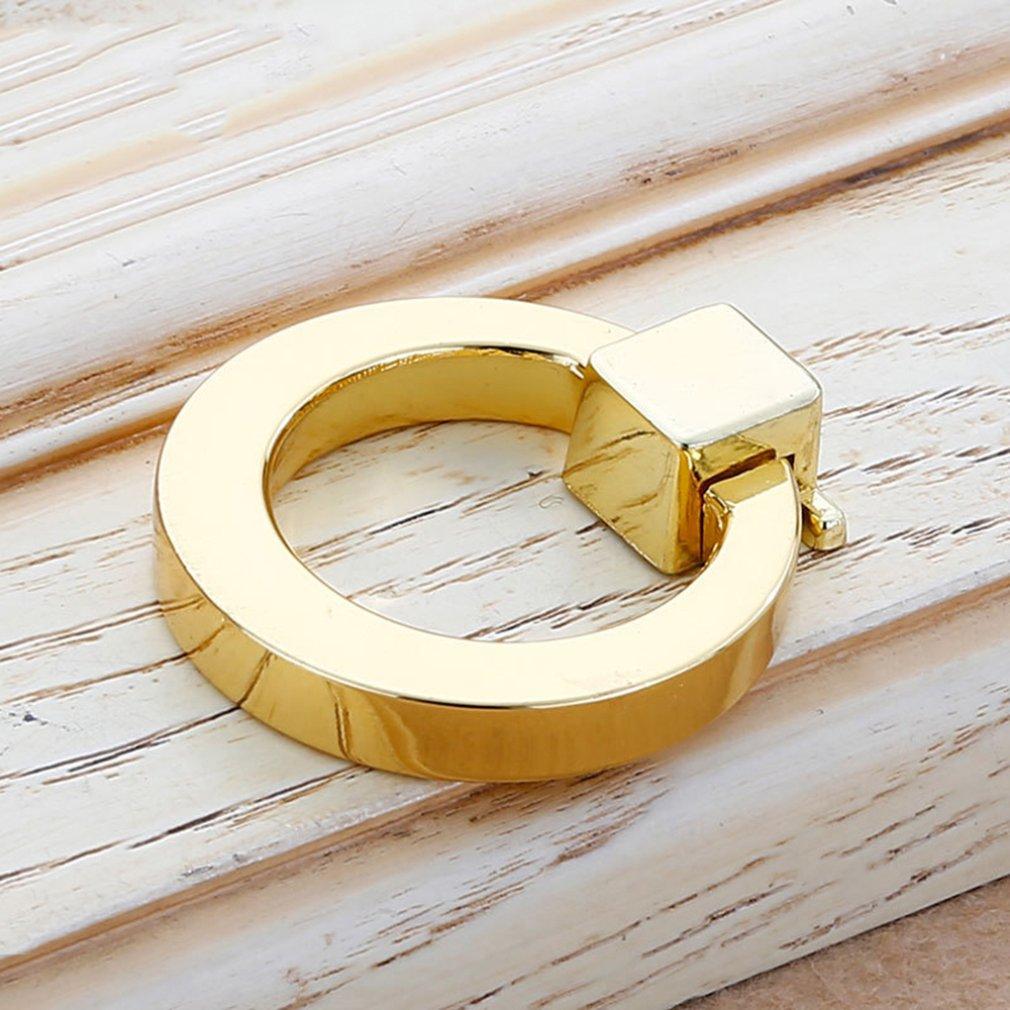 Европейские дверные ручки для шкафа, ящик, комод, шкаф для шкафа - Цвет: Золотой