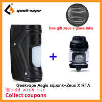 Regalo gratis Zeus X RTA para Geekvape auspicios Squonk Mod 100W TC caja Squonker Mod 100 Chipset del geekVape auspicios solo/auspicios mini mod