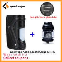 Regalo libero Zeus X RTA per Geekvape Aegis Squonk Scatola Mod 100W TC Squonker Mod COME 100 Chipset VS geekVape aegis solo/aegis mini mod