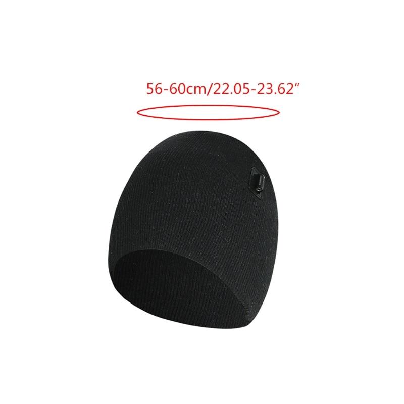 Купить мужская и женская зимняя шапка с электрическим подогревом usb