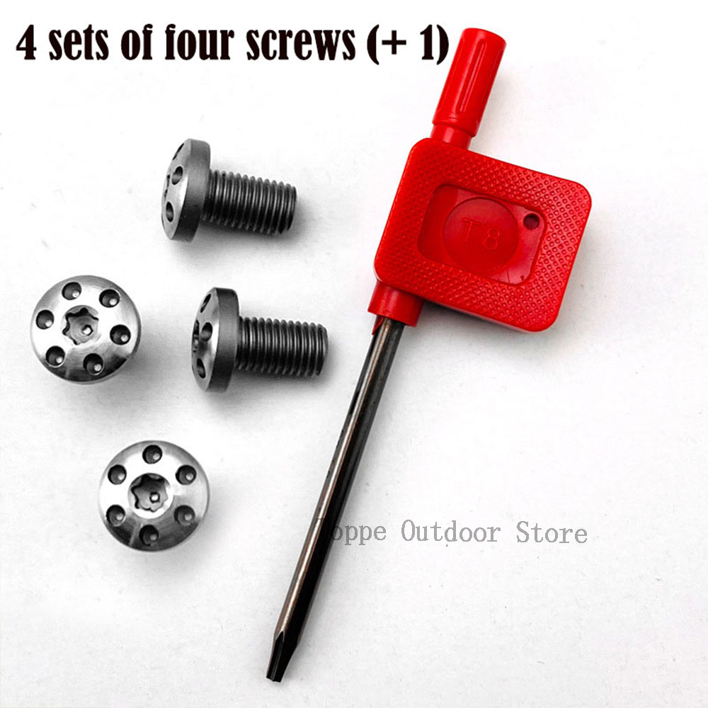 TOtrait 4Pieces Customized 1911 Grips Screws Stainless Steel CNC  T8 Plum Screw 1911 Grip Nail