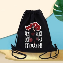 Backpack Drawstring Bag Shoulder-Bags Canvas Prints Cotton Comic Gym Casual Character-Series